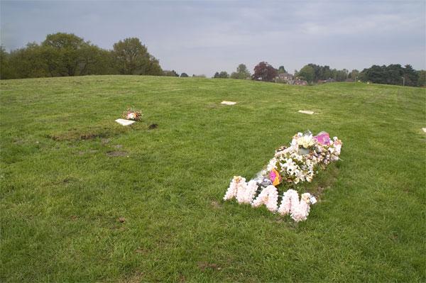 Woodland burial site near Lytchett Heath