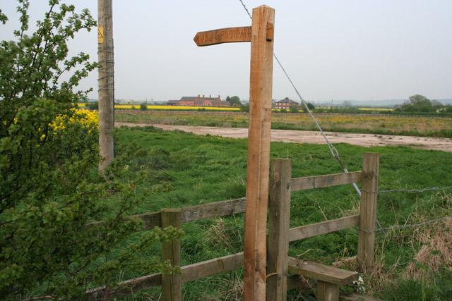Farmland on the edge of Langar airfield