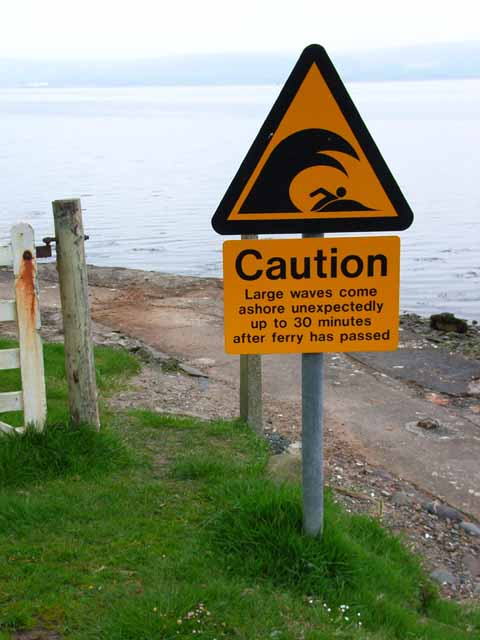 Notice on the shores of Loch Ryan