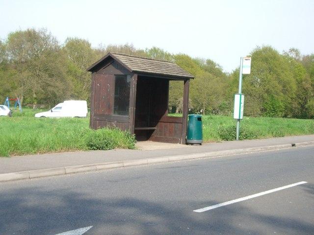 Bus shelter at Christmas Hill, Shalford