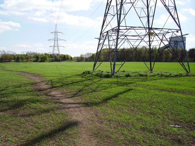 Pylon and arable land, Cockenzie