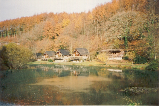 Millpond and  holiday cabins, Deerpark 1992