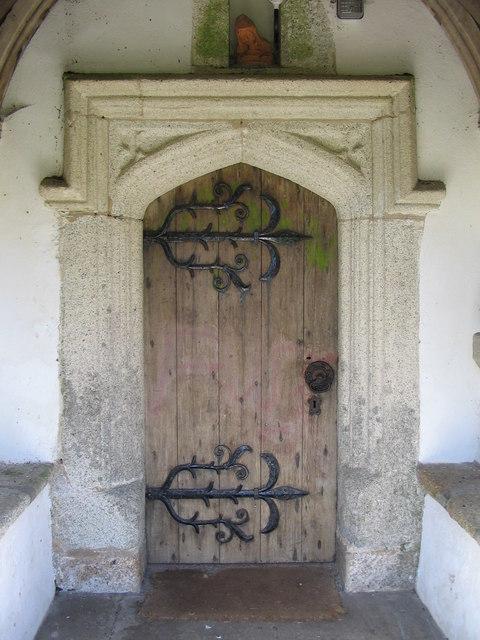 The door to Sancreed church