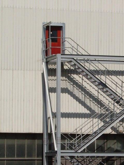 Fire escape - Cockenzie power station