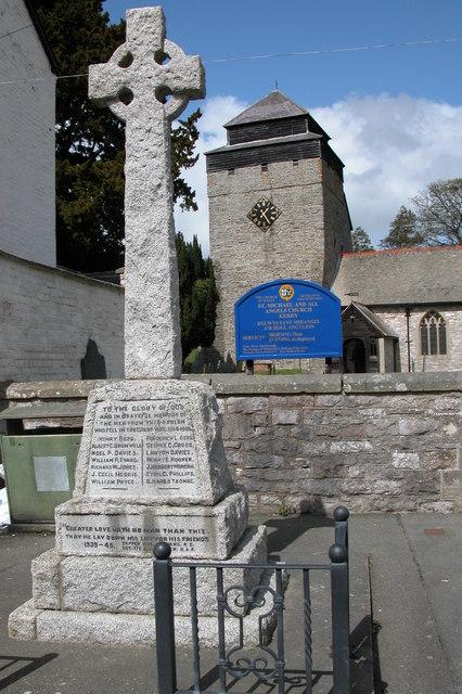 War Memorial and Church in Kerry