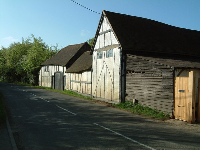Half-timbered farm buildings