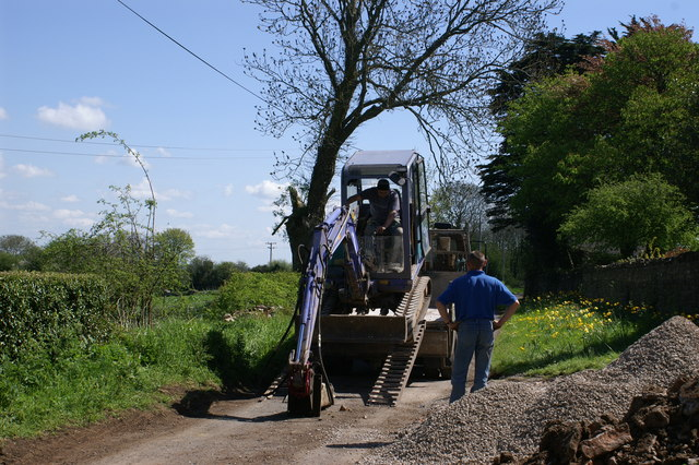 Greendown Farm Digger Delivery