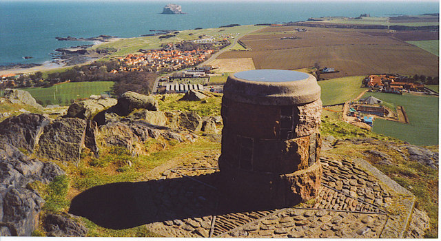 Viewpoint indicator on North Berwick Law.