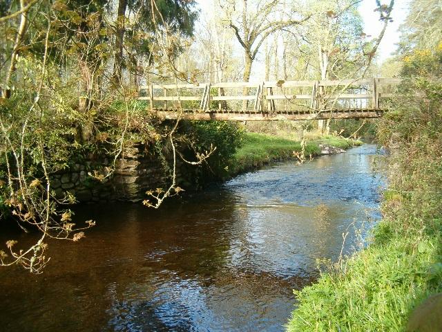 Footbridge over the River Sorn