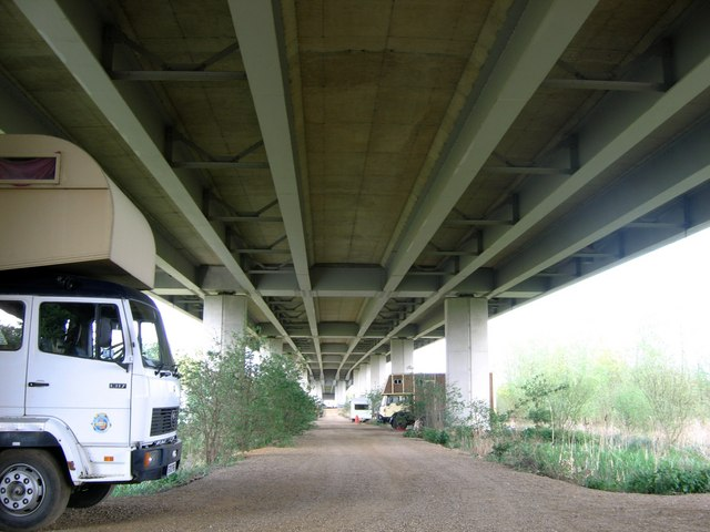 Beneath Postwick Viaduct