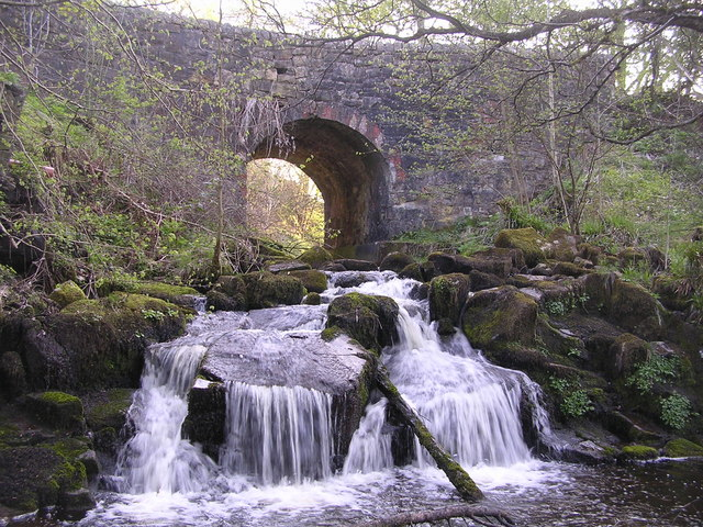 Bridge and Waterfall on Castlerankine Burn