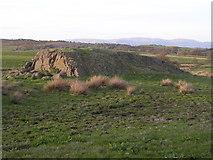 NS7782 : Roche moutonnée below Myot Hill by Chris Upson