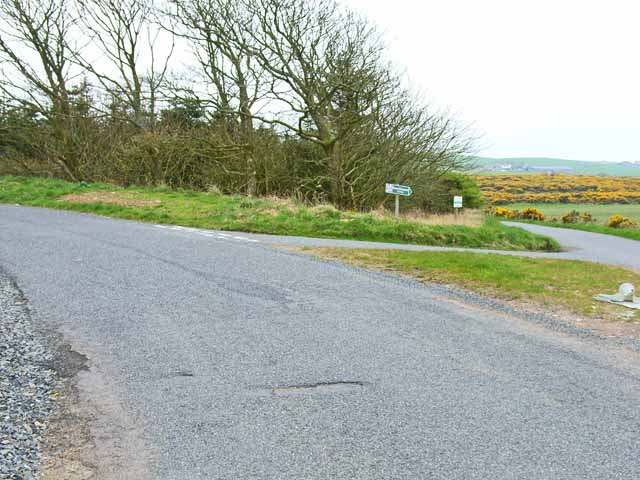 Road junction on the B7042