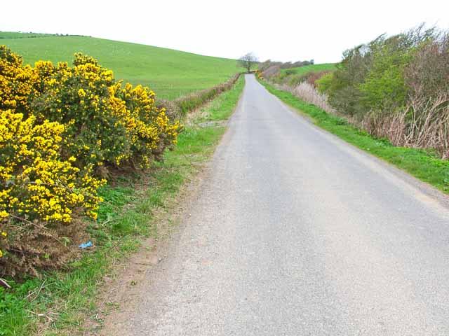 B7042 Portpatrick to Sandhead road