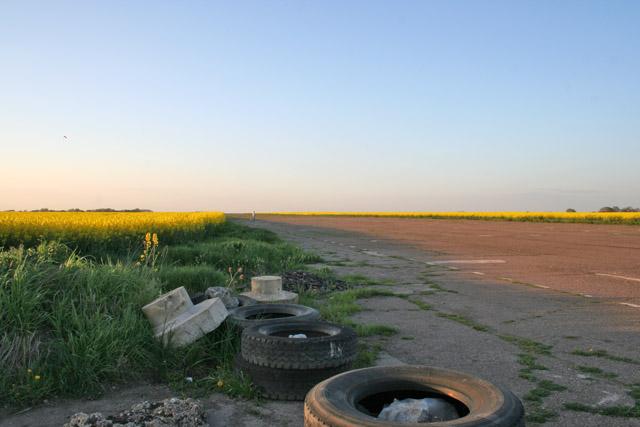 North/south runway, Langar Airfield
