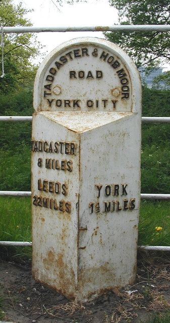 Milepost on the Knavesmire, York