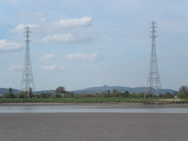 Electric pylons by the river Severn