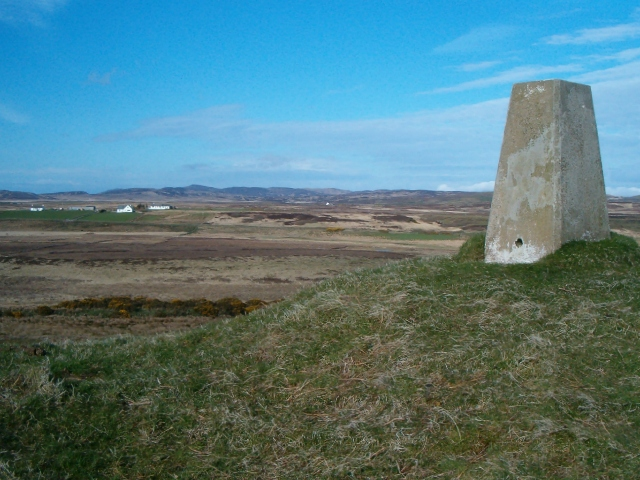 Triangulation pillar on Cnoc Iolairean
