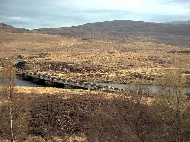Railway Bridge at east end of Loch Achanalt