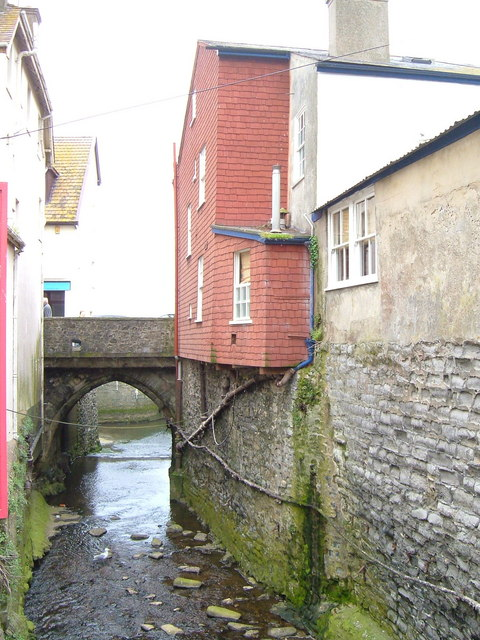 River Lim in Lyme Regis
