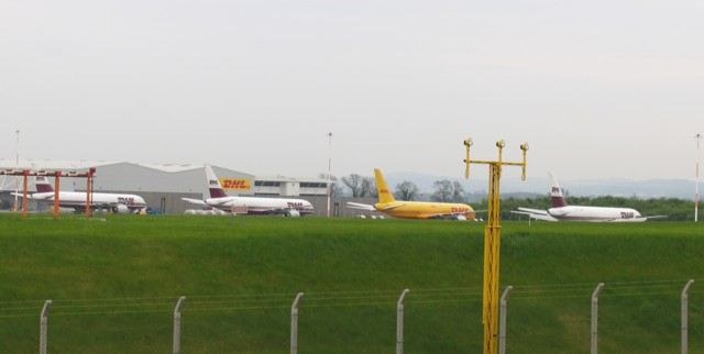 DHL freight planes