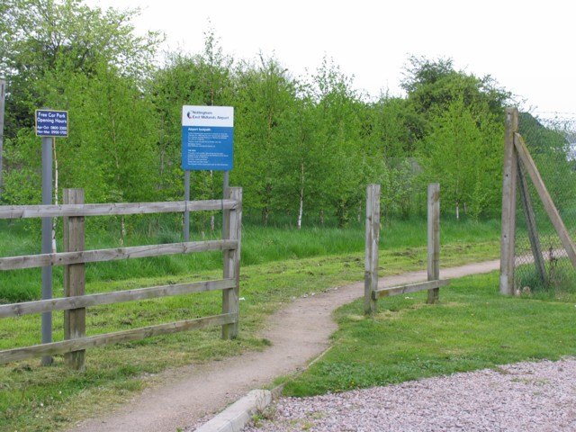 East Midlands Airport Path