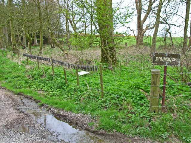The road to Drumdoch near Lochans