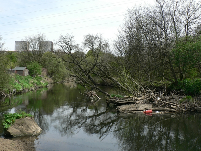 River Aire by St Ann's Mills, Kirkstall