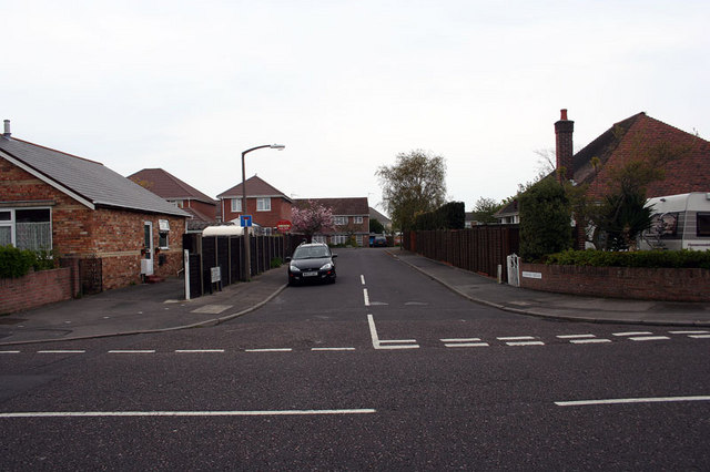 Junction of Almond Grove and Rossmore Road, Poole