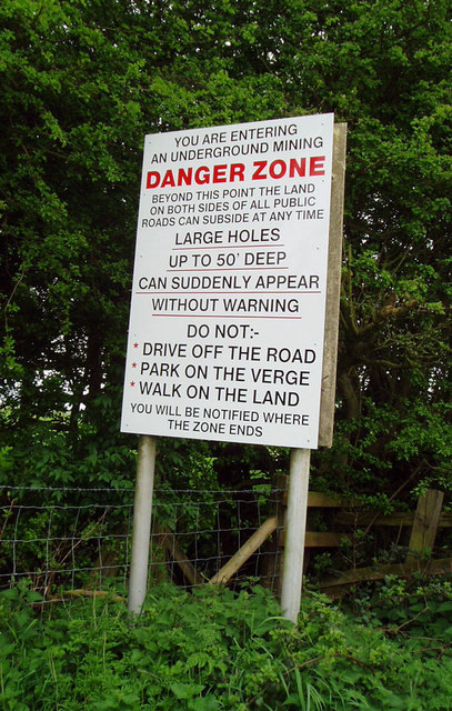 Warning sign near Holwell, Leics