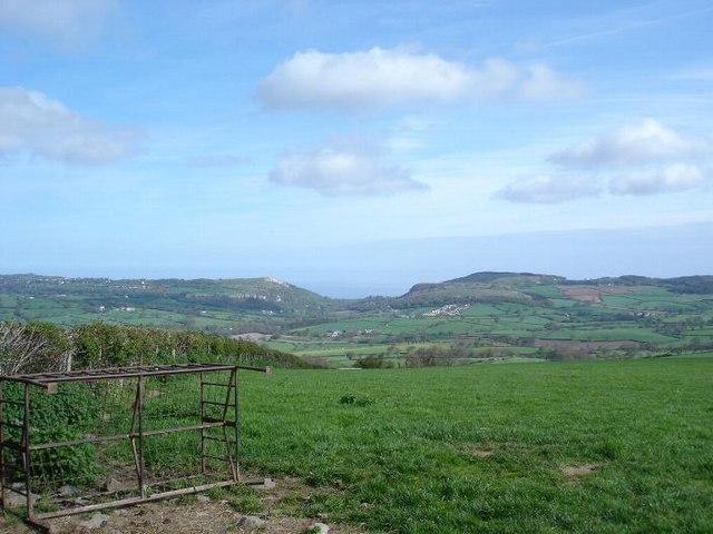 Fields above Betws yn Rhos