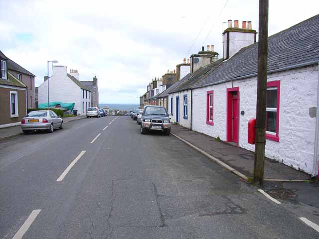 Row of cottages in upper Port William