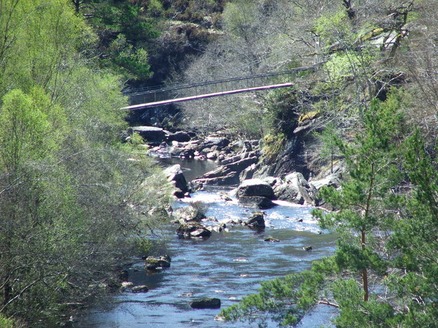 Rogie Falls bridge