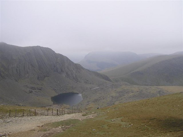 Snowdon - Looking Towards Cwm Du'r Arddu