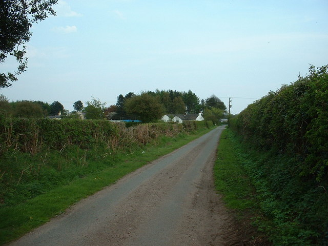 Lane to Sandiford Lodge, near Cotebrook