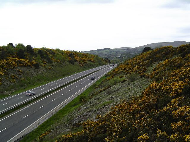 The A38 just south of South Brent, Devon