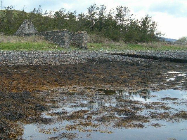 Ruined boathouse and slipway