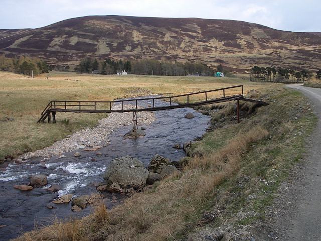 Footbridge in Glen Isla