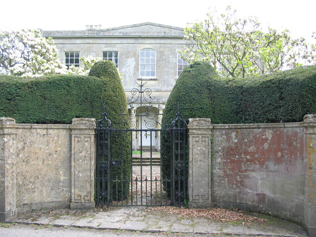 The gate to Corsley House