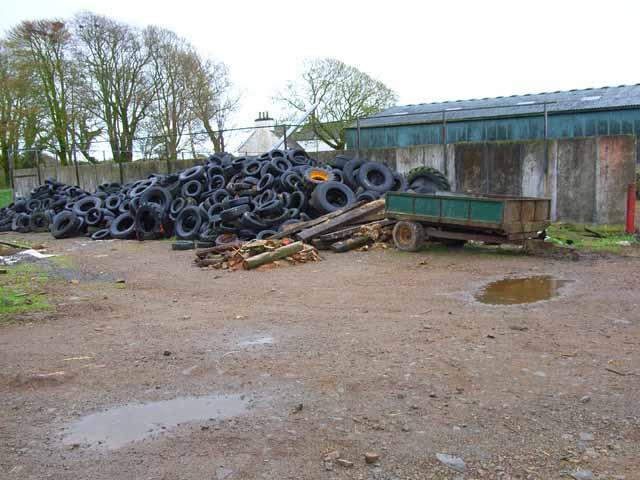 Mountain of old tyres at Sloehabbert
