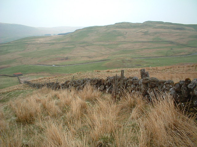 Looking across the B822 Fintry Road