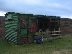 Old goods wagon (shooting hut) on Gisborough Moor