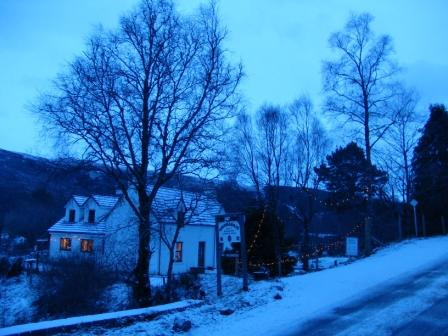 Cromasaig House Kinlochewe in Winter