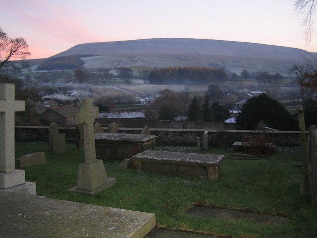 View from Downham Church