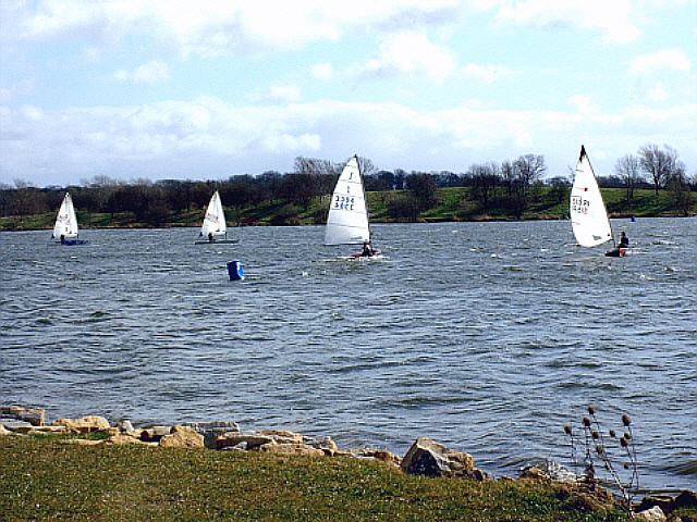 Sailing at Ferry Meadows, Peterborough