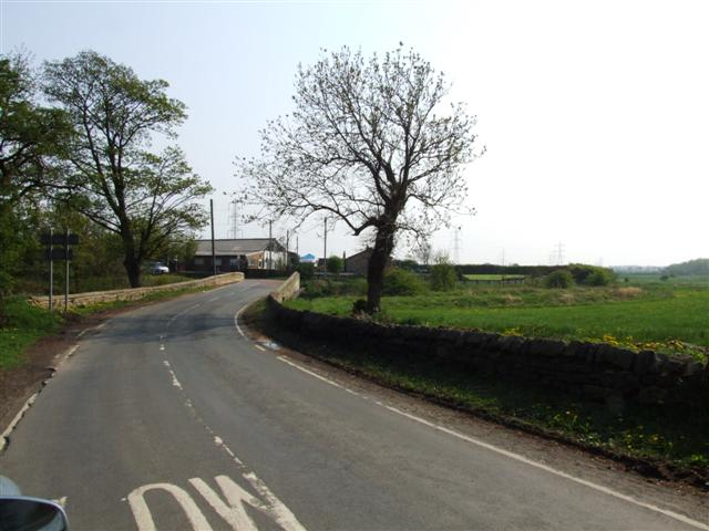 B road near to Hylton Grove Farm, Follingsby