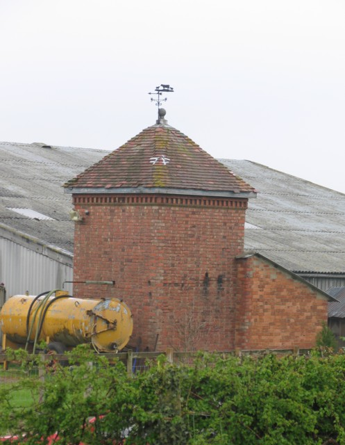 Building with weathervane