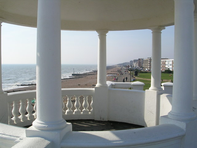 Bexhill-on-Sea, promenade from pavilion.