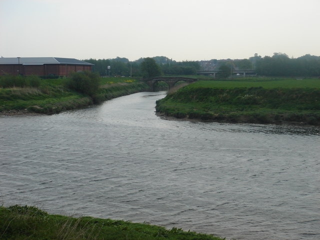 Confluence of River Darwen with River Ribble