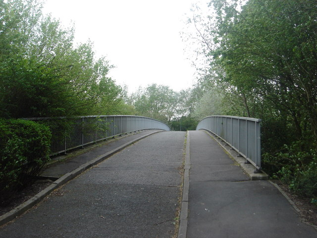 Footbridge over A6 near Dog Kennel Wood